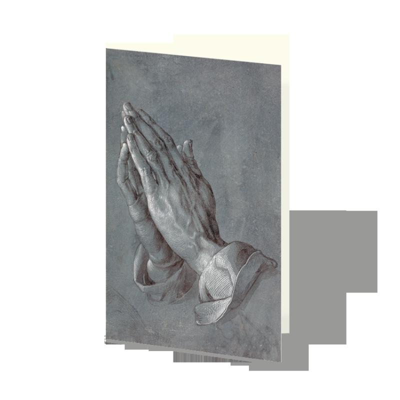 trauerkarte betende h nde albrecht d rer stilvolle danksagungen und trauerkarten online. Black Bedroom Furniture Sets. Home Design Ideas